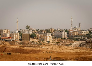 RAHAT, ISRAEL. July 23, 2012. General view of the Negev Bedouin town Rahat. It is the largest Bedouin town in the world.