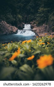 Rahong waterfall from garut west java indonesia