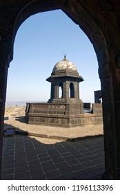 Raigad Maharashtra India February 25 2009 Samadhi(maussoleum) of a king shivaji maharaj at fort