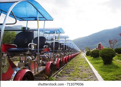 Rail bike train