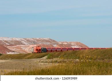 Rail Cars at the Potash Mine