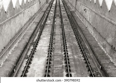Rail of the funicular