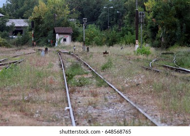 Rail lines in Bitola, Macedonia on Tuesday 10 September 2013