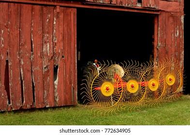 Rail Rake in a Barn