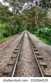 Rail road to Aguas Calientes/Peru. to get to Machu Picchu