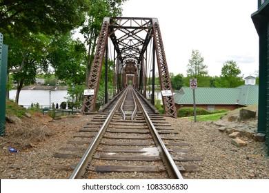 A rail road girder bridge in Augusta Georgia