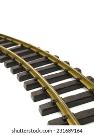 Rail track isolated on a white background