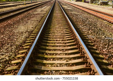 Rail trail - travel, transport concept photo