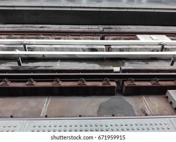 rail of  train in Bangkok Thailand.