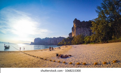 Railay beach Krabi Thailand, the dream of backpackers.