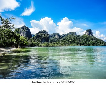 Railay Beach near Krabi at Thailand