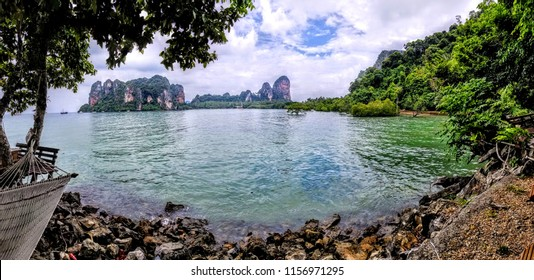 Railay East Beach trail in Krabi Southern Thailand
