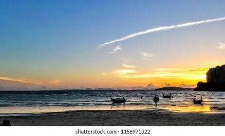 Railay Sunset Beach in Krabi Southern Thailand