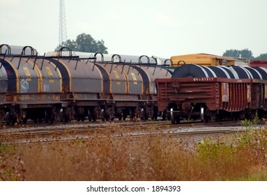 Railcars with Steel Coils