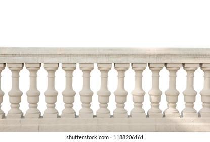 railing isolated on white background