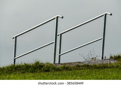 railing on the shore