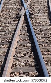 Railroad from Bolivia to Chile. in Uyuni.