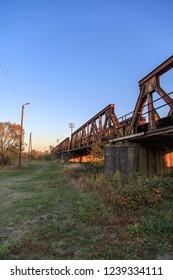 Railroad bridge over Polish - German border