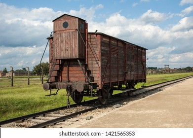 Railroad car German WW2 concentration camp Auschwitz-birkenau