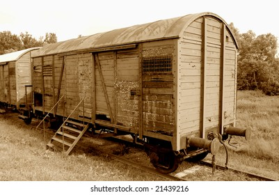 Railroad car used during the Holocaust -sepia version