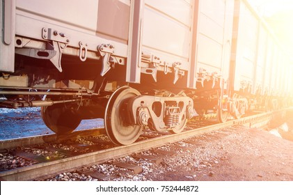 railroad cars loaded with coal, the train transports coal. loading of wagons with coal. night views.