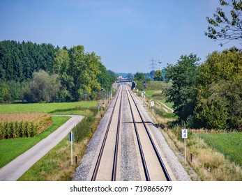 railroad in the countryside