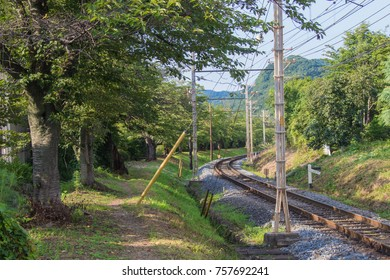 A railroad in countryside.