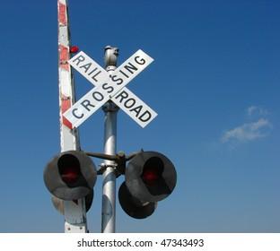 Railroad Crossing Sign Images, Stock Photos & Vectors