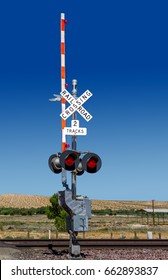 Railroad Crossing Signal Lights in the Country