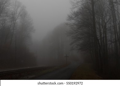 Railroad in the Mist, Balsam Mountain, Great Smoky Mountains, North Carolina