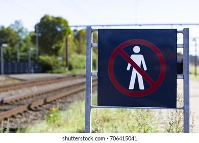 Railroad sign in Denmark