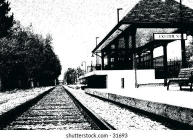 Railroad Station Graphic