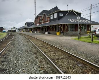 Railroad station, Kenora, Lake Of The Woods, Ontario, Canada