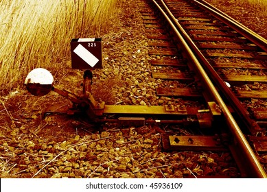 Railroad switch.