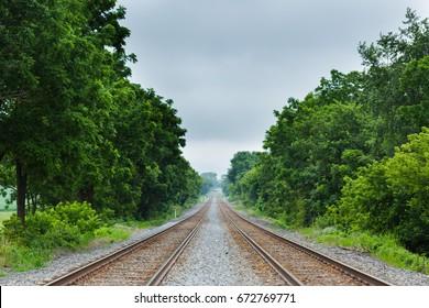 Railroad Track - Shallow Depth of Field