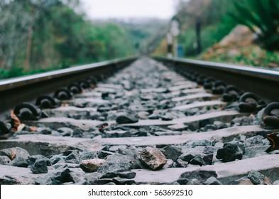 Railroad track with tone color.