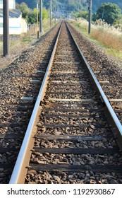 Railroad tracks in Japan