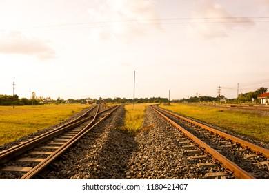 Railroad tracks Leading to freedom
