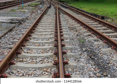 Railroad tracks thailand