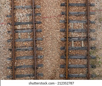 railroad tracks view from top