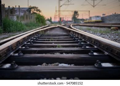 Railroad tracks,railroad