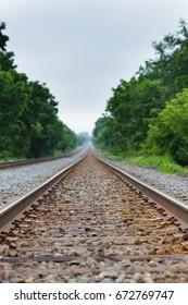 Railroad Tracks-Shallow depth of field