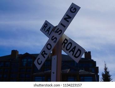 Railroad Train Crossing