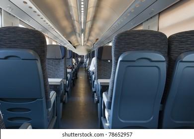 "Railroad train interior. Inside of italian train  - Taken on ""Milan-Venice"" Train"