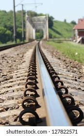 Railroad and Train on nature
