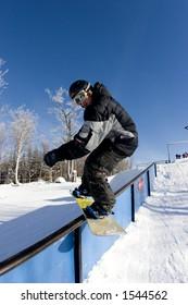 Railslide at Mont Tremblant Quebec