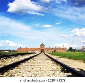 Railway in Auschwitz Birkenau Poland