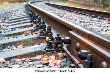 railway bolts, rails and sleepers