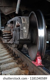railway brake Shoe stops the train on the rails