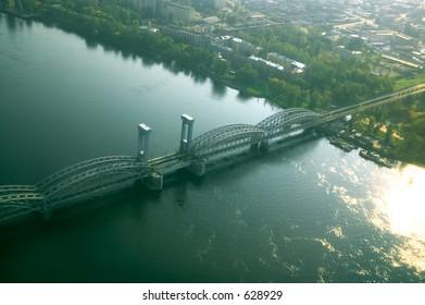 Railway Bridge across Neva river [#4912]